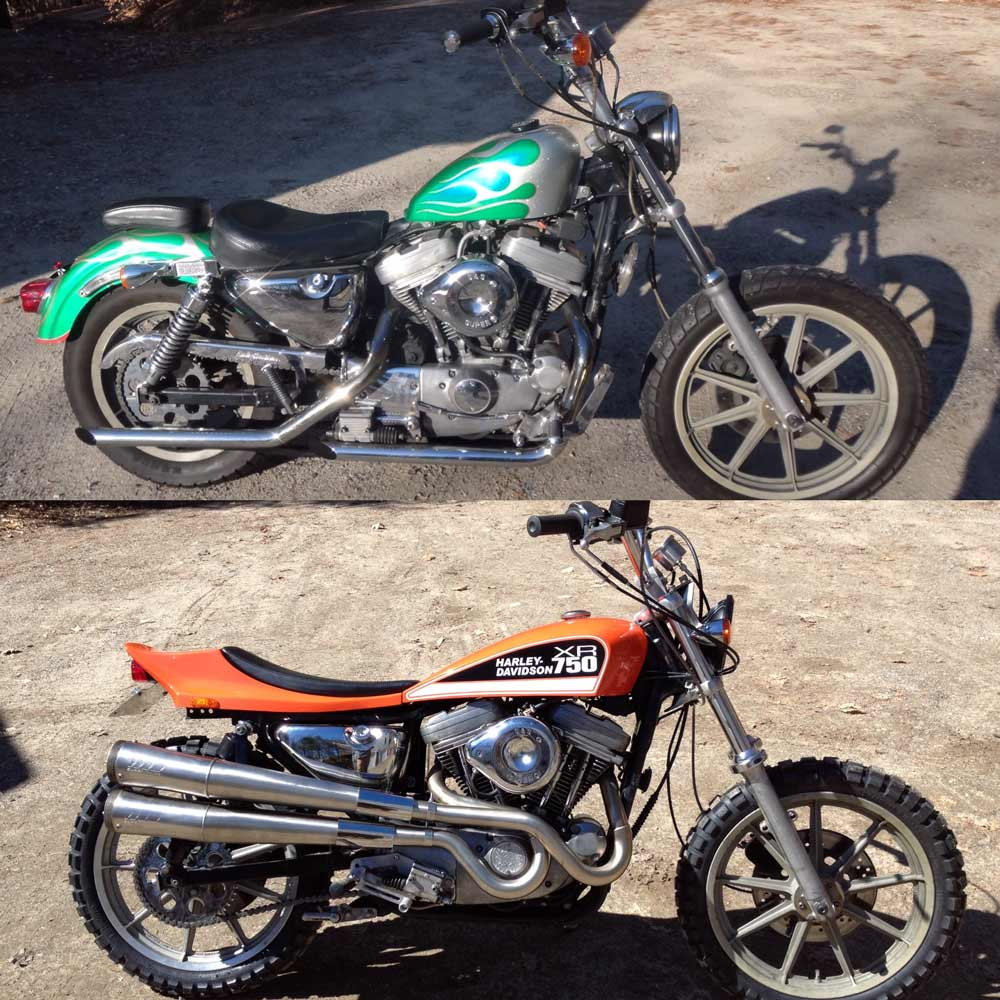 Sxr Street Tracker Phil Little Racing Vintage Motorcycle 2000 Xl 883 Wiring Harness The Sportster And Buell Nh Ordered My Stuff In January Received It March Pretty Much Production Lag Steve Captured Waiting Time By Prepping His Bike