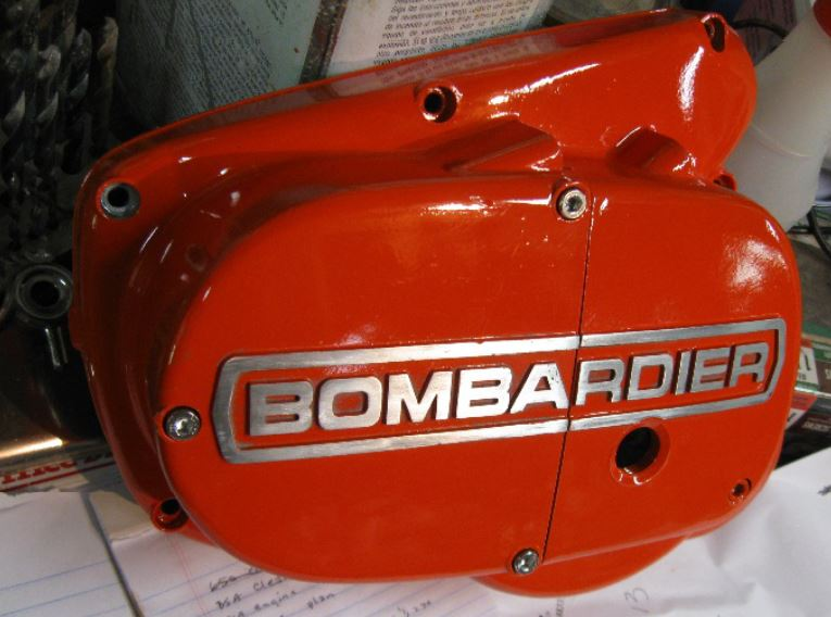 bombardier part painted